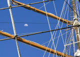 Moon in the rigging