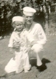 Nancy Helmick with Uncle Dwight Helmick