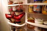 Red Shoe In Fridge