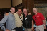 Chris Clune (ExactRail), Brian Rutherford and Eddie Ryan with Randy Wilson