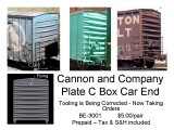 New Cannon Freight Car Part, a Plate C End