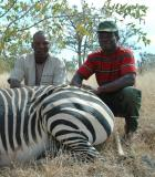 Elias and Matthew with the Zebra