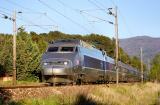 A TGV Sud-Est not far from Carnoules.