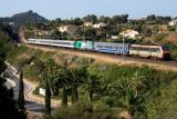 The BB26057 and a test train with the new BB75000 Class, near Agay.