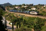The BB22335 and an Auto-train, between Le Dramont and Agay.