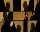 Collages of a man and his shadow