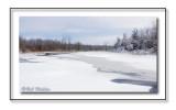 A Frozen Pond In Winter's Cloak