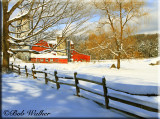 A Wintery Country Scene