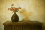 Flowers on the cabinet