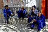 Elders smoking on a sunny day Dali, China.