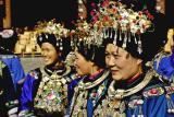 Women in traditional Miao dress. Dehang Village, China.