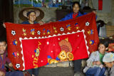 In another home a blanket we gave to a poor and needy family.