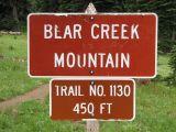 Bear Creek Mtn Trail Sign