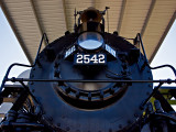 Steam Locomotive  on display near McComb, MS