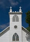 The Lutheran church steeple