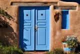 Rancho de Taos residence entryway.