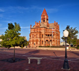 The Hopkins County Courthouse in Sulphur Springs, TX