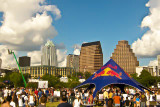 The Flugtag Crowd with Austin as a backdrop