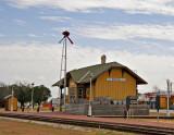 The Bertram, TX train depot.Narrow gauge railroad completed in 1882  Converted to standard gauge in 1902..