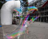 through the bubble ...