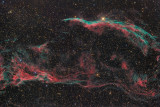 NGC6960 - Veil nebula and Pickering's Triangle in Cygnus