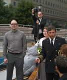 Chris Williams(c)wedding of Jeff Moore(l) Kathryn Leonard Moore(r)ex.r is Captain Patrick Harris (photo Helena Boskovic)