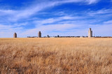 This is the complete town of Pritchett, CO and elevators.