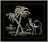 Camel & Dates Palms
