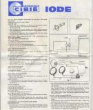 CIBIE IODE 45 Lights - Installation Instructions
