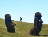 Walker among the moai
