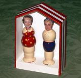Small couple in a box