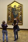 Girls Photographing Cimabue's Enthroned Madonna c. 1280