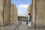 Acropolis -  Propylea looking outward toward Athens.jpg
