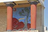 Crete Bull fight fresco copy in situ Palace at Knossos.jpg