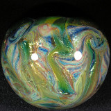 Beautiful planetary backside on this one, a fun mix of shiny silver and gold.