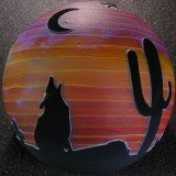 Coyote Sunset Size: 3.59 Price: SOLD