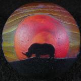 White Rhino Sunset Size: 1.70 Price: SOLD