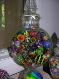 'Banjo' jar (EXTREMELY rare) and random marbles.