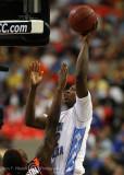 North Carolina F Davis takes a short jumper over Virginia Tech F Thompson