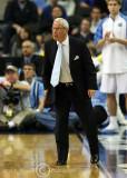 North Carolina Tar Heels Head Coach Roy Williams instructs his team during play