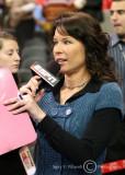 ESPN courtside correspondent Janine Edwards