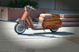 Motor Scooter with Custom Redwood finish