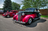 1934 Ford and 1936 Chevy