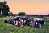 Old Style Rods at Dusk