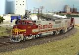 ATSF Officer train at Summerfield