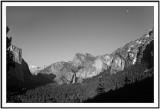 Monochrome Yosemite Valley Panorama