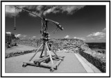 Medieval catapult in the Castelnaud castle