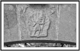 Symbol of the Pilgrims of Saint Jacques de Compostelle in Collonges la Rouge