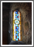 Stained Glass Window in Chapel of St Cado