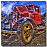 Truck & Flag